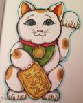 Lucky cat wishes you luck by TestSubject227