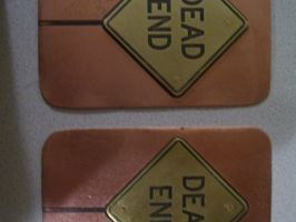 Street Sign ATCs by creativeetching