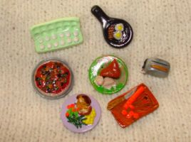 miniature food beads by KRSdeviations