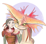 valka and cloudjumper by TheBlackFalcon