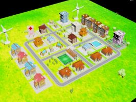 isometric game City by akkigreat