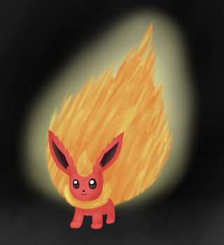 Large Fire Flareon by GuardGate