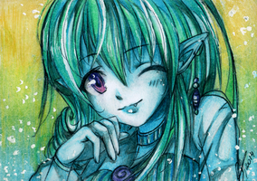 ACEO: Atorife by Fukune