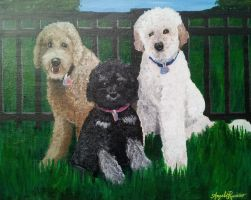 Chase, Taz, and Coco by InspiredByYouArt