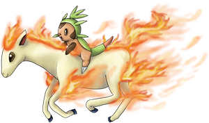 Chespin knight by Cinnamon-Quails