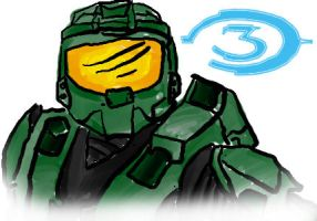 Halo 3 doodle by TaylorSch