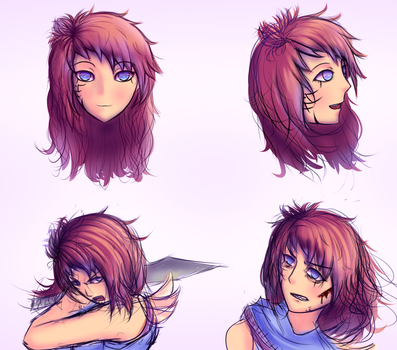 Xindyr's expressions by FlamingDildo
