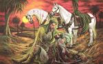 Imam Hussain and Al Abass by Emane1983