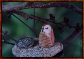 Sitting Owl 1 by StephaniePride