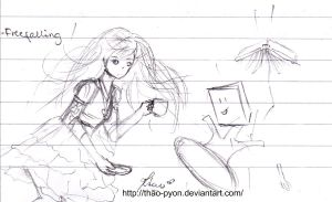 School Doodles : Free Falling by Thao-Pyon