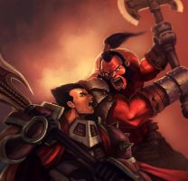Axe VS Darius by jasonwang7