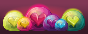 Heart Bubble Icons - Revised by ciara-cable