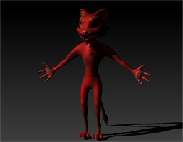 Being creepy now (3D character WIP) by MadRacer