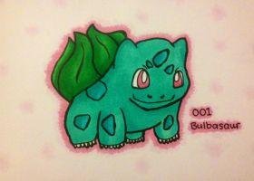 001 Bulbasaur Coloured by xSammyKayx