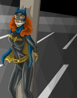 Batgirl Tied Up In A Parking Garage Shadows by 27ImaginaryLines