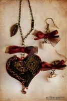 Steampunk Heart, red one. by maria-chan