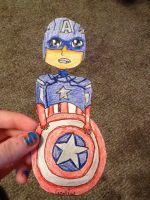 Captain America PaperChild by bakuganfreakful