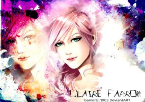 Claire Farron - Wallpaper by GamerGirlX03