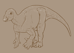30 Day Dinosaur Drawing Challenge - Day 3 by Sketchy-raptor