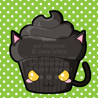Black Cat Cupcake by pai-thagoras