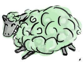 Minty Sheep! by NeonCircuitry