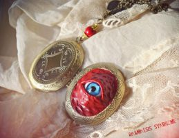 Red Locket Eye by Verope