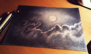 Moonlight, tinted charcoal by realm-of-lost-minds