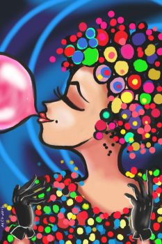 Miss Bubble Gum by MaryGoty