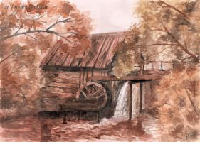 Old Watermill by Aelroun