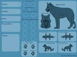Wolf Character Reference Sheet (Base)FREE!!! by Wyeth-Kitty