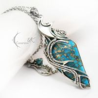 INTIAEELH - silver , turquoise and bronze by LUNARIEEN