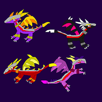 Spyro and co as Adalisks by SuperSmashCynderLum