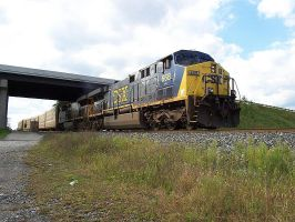 CSX AC6000W's Underway by LDLAWRENCE
