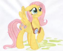 Fluttershy with Goggles by TwilightFlopple