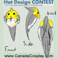 Cockatiel hat design by bobismyname1
