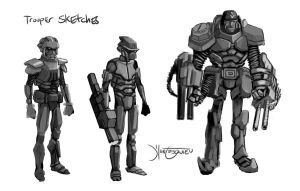 Trooper Concept Sketches by RC-draws