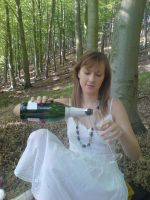 Girl Pouring bubbly by EmKins-Resources