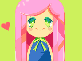 pink hair by podiina