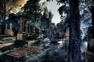 ir in the cemetery 3 by lucifersdream