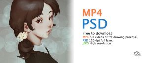Digital Painting process VDO and PSD Download by webang111