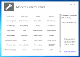 Modern Control Panel by parassidhu