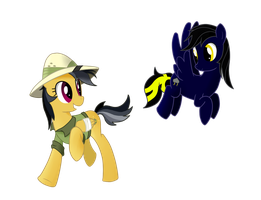 Daring Doo and Shadow Thunder by StaticWave12