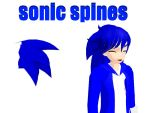 MMD Sonic Spines by supersonicwind69