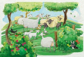 the Sheep and the goose by FrancescaDaSacco