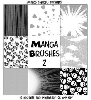 Manga Brushes 2 by mistressmariko