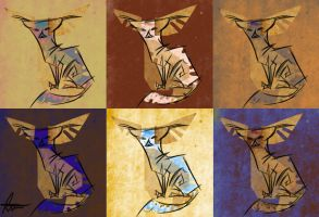 Fennec Foxes Gradient Maps/style experimentation by AnimationAmmeter