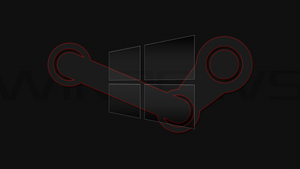 Windows 10 Steam Edition Red Desktop Wallpaper by DarkKnight2264