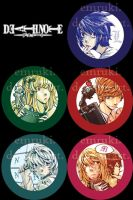 Death Note Buttons by Emruki