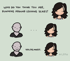 Running around leaving scars. by LetsSaveTheUniverse
