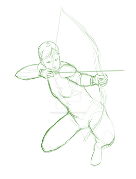 Warmup Sketch - Archetype_Archer by Dawnsknight